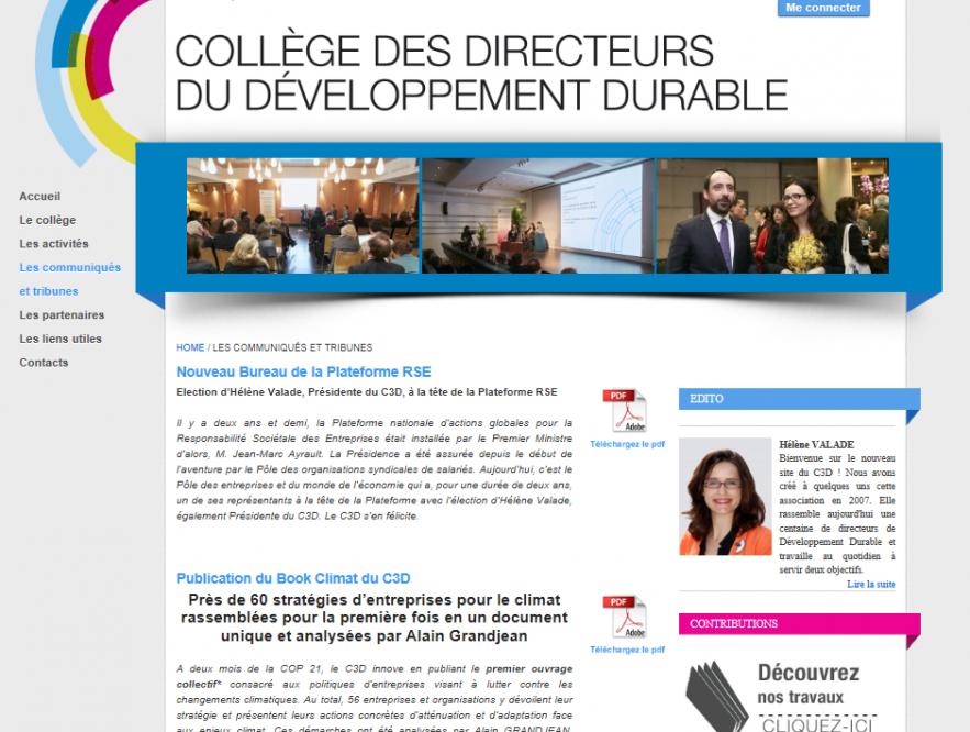 site internet C3D