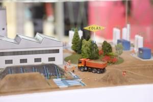 Maquette de Colas Environnement sur la dépollution des sols