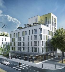 Programme de logements de 4 186 m2 à Choisy le Roi (rue du Four). Architecte : SPLAAR. Livraison prévue en septembre 2018.