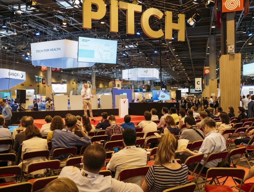 Les 10 start-ups pré-sélectionnées ont pu pitcher leur idée                                                               devant le jury et le public de Vivatech