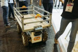 Le robot-suiveur mis au point par la startup Effidence