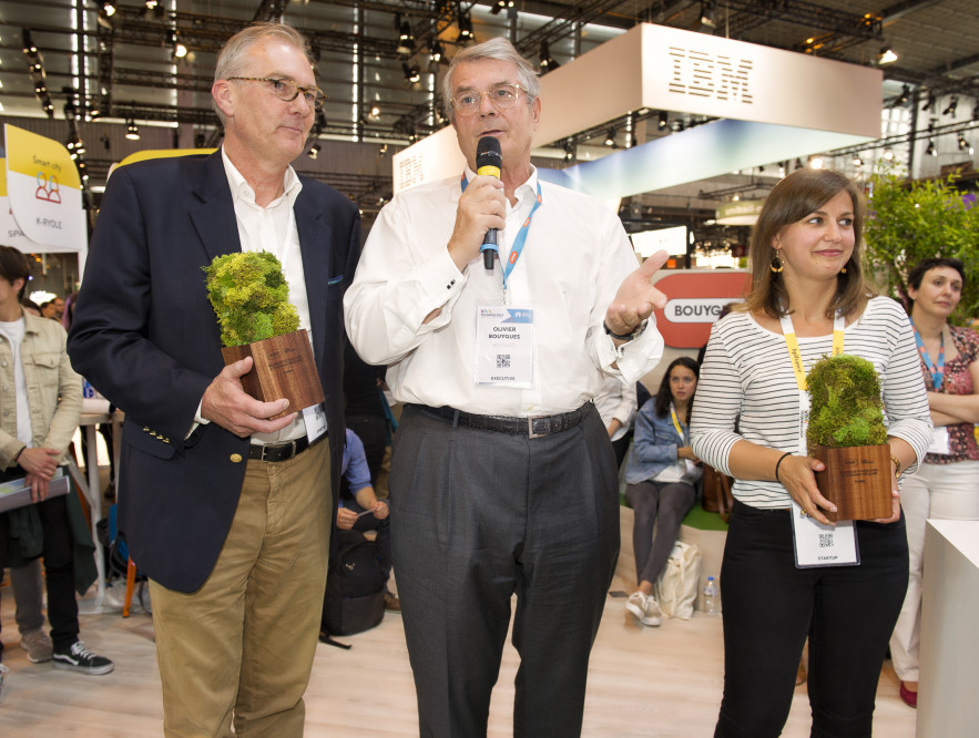 Christian ROGGEMAN (Gramitherm), Olivier BOUYGUES, Ludivine GUERINEAU (Glowee)