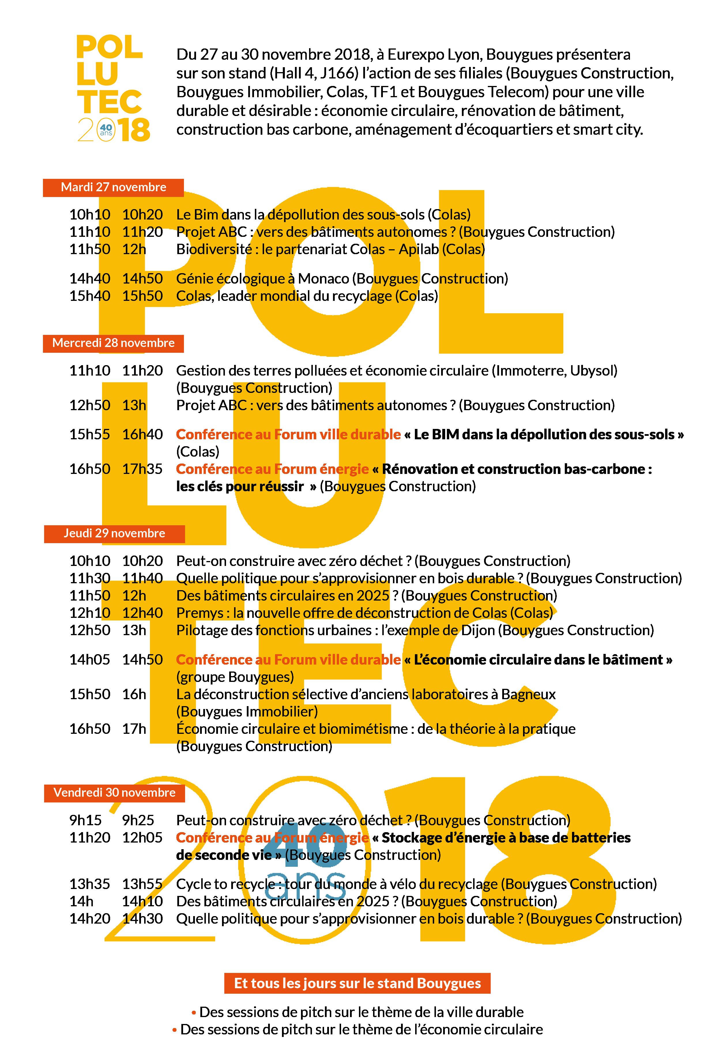Programme polluctec 2018 article blog dd