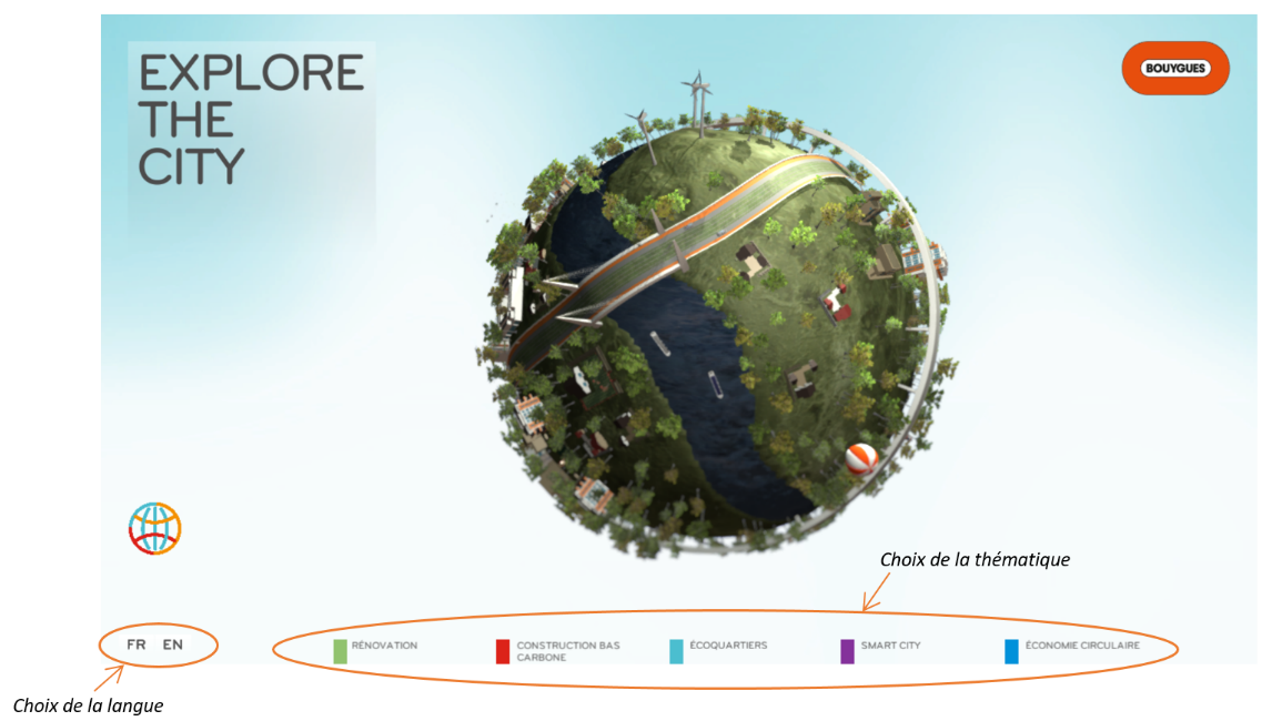 Explore the City page d'accueil